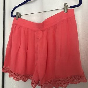 Raspberrie color shorts with lace Size L